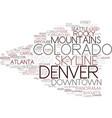 denver word cloud concept vector image
