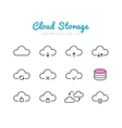 Cloud Storage icons set vector image
