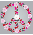 peace sign floral vector image