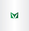 letter m green logotype sign logo m icon vector image