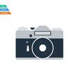 Flat design icon of retro photo camera vector image