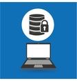 computer analysis data security design vector image