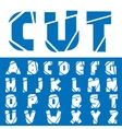 Cracked creative alphabet vector image