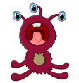 happy monster cartoon vector image