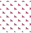 princess shoe pattern seamless vector image