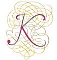 script letter K vector image