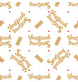 seasons greeetings seamless pattern vector image