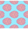 Sketch brain in vintage style vector image
