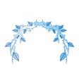 vintage branch thorns leaves decoration rustic vector image