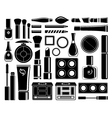 Set of icons cosmetics vector image