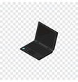 isolated portable computer isometric laptop vector image
