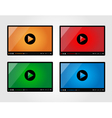 Video player for web in different colors vector image vector image