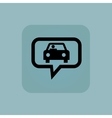 Pale blue car message icon vector image