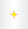 yellow star button abstract icon vector image