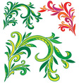 curly ornament vector image
