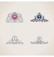 Calligraphic flourishes luxury monogram set Line vector image vector image