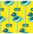 Seamless Duck with wind up pattern icon vector image