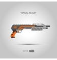 Shotgun Gun for virtual reality system vector image