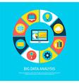 Big Data Analysis Flat Infographic Concept vector image