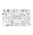 business strategy icons vector image