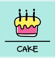 cake hand-drawn style vector image