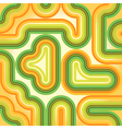 Seamless retro striped green and orange pattern vector image