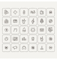 Set of Music Doodle Icons vector image
