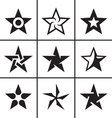 Star icons set vector image