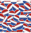 Vote USA pins pattern vector image