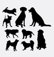 Dog pet animal silhouette 7 vector image