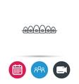 Dental braces icon Teeth healthcare sign vector image