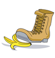 Boot and a banana vector image vector image