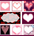 set of templates for cards wedding birthday vector image