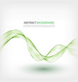 green transparent lines on a white background vector image