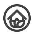 eco house logo vector image