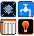 public utilities icon set vector image vector image