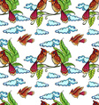 Seamless birds vector image vector image