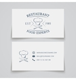 Business card template for restaurant vector image