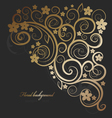 floral ornate vector image vector image