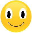 yellow smiley vector image