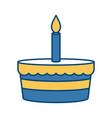 bakery birthday cake vector image