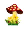 cute drawing fairy mushroom vector image