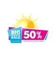 Emblem for big summer sales vector image