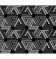Geometric black and white seamless pattern endless vector image