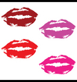 lipstick prints vector image