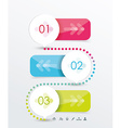 Option or number banners template graphic or vector image