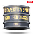 round glass panel for advertising vector image