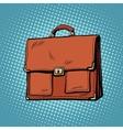 Realistic stylish leather business portfolio bag vector image