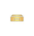 Box computer symbol vector image