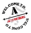 Johannesburg stamp rubber grunge vector image